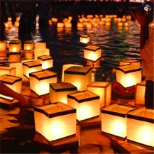 floating candles.basho